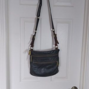 Fossil leather cross body purse